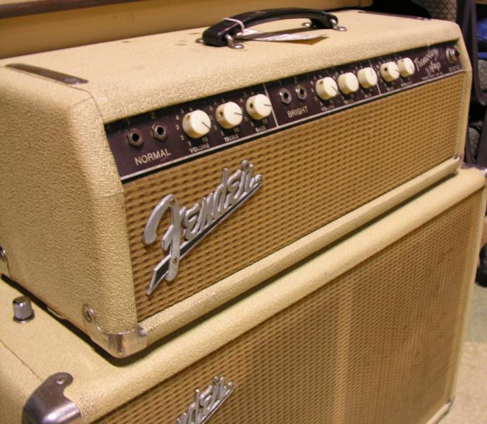 Blond Fender Tremolux amp