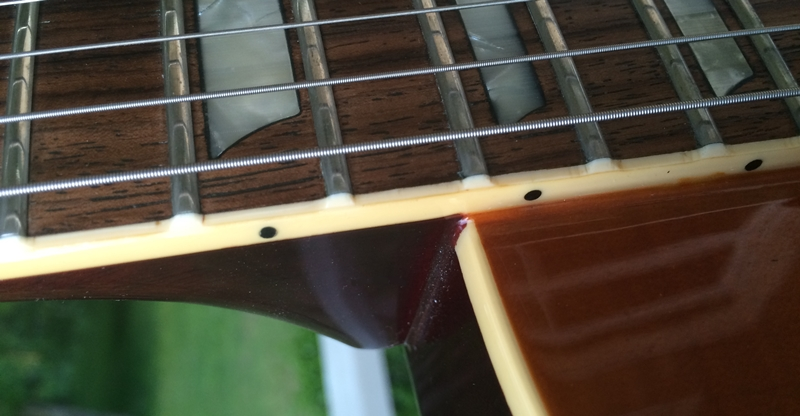 Vintage 1980s 1970s Burny Les Paul bount fret edges