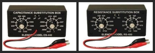Capicitor/resistor box for treble-bleed values