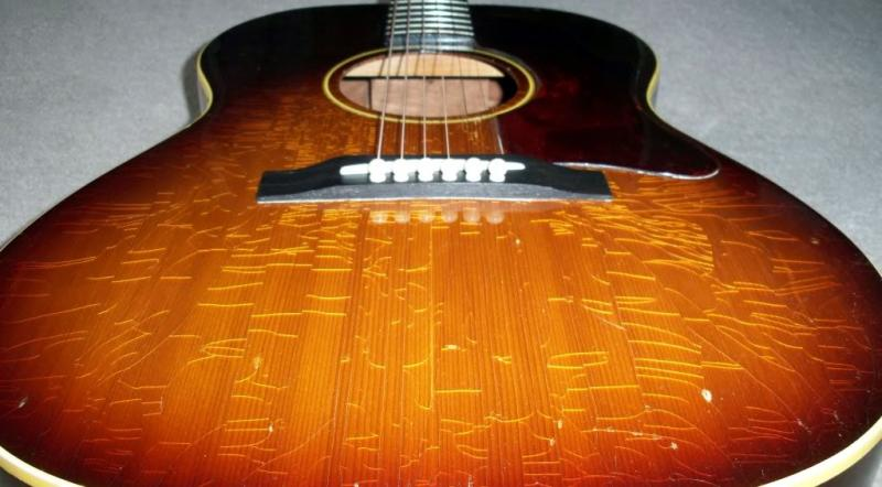 Cold Weather Checked Cracked Guitar finish acoustic