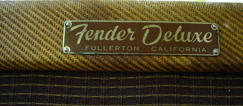 1959 Fender Narrow Panel Tweed Deluxe Amp Logo