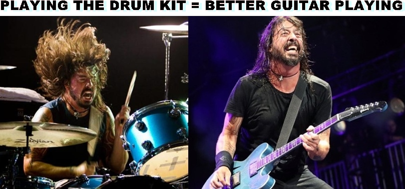 Dave Grohl playing drums makes you a better guitar player musician