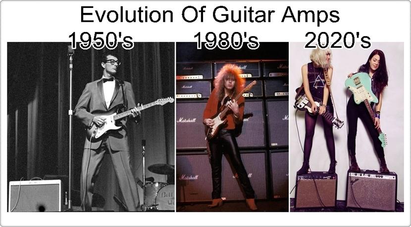 evolution of Guitar amps