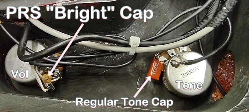 PRS cap across volume pot